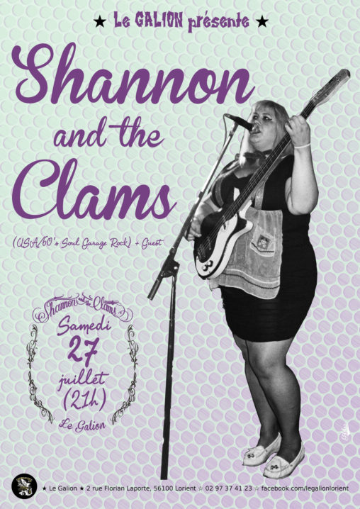 affiche Shannon and the Clams de Oakland, Californie